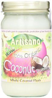Artisana 100% Organic Raw Coconut Butter    16 oz  Nut Butters  Grocery & Gourmet Food