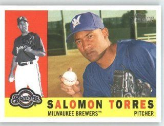 Salomon Torres   Milwaukee Brewers   2009 Topps Heritage Card # 156   MLB Trading Card Sports Collectibles