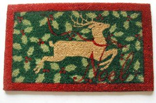 Geo Crafts G253 PVC Backed Coco Door Mat, Reindeer (Discontinued by Manufacturer) Patio, Lawn & Garden