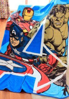 The Avengers Captain America Iron Man Hulk Style Coral Fleece Soft Plush Blanket About 157 X 229CM   Bed Blankets