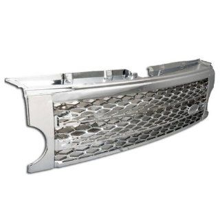 05 09 Land Rover Discovery 3 Mesh Front Hood Grille Chrome Automotive