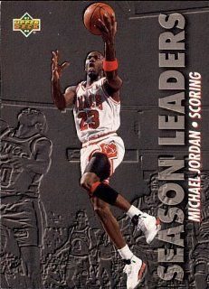 1993 Upper Deck Michael Jordan   Season Leader   Scoring Card # 166 Sports & Outdoors