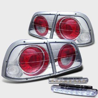 Rxmotoring 1998 Nissan Maxima Tail Lights + 8 Led Bumper Fog Light Automotive