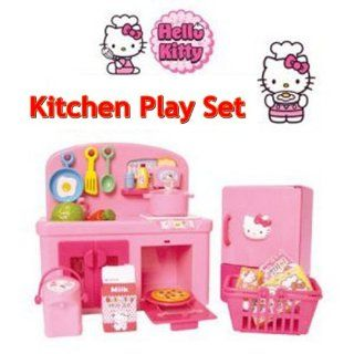 Hello Kitty Kitchen Play Set Miniature Toy Preschool Girl Role Play Toys & Games