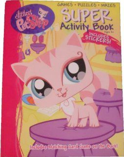 Littlest Pet Shop Coloring and Activity Book 144 Pages   Stickers Puzzles Games Mazes Toys & Games