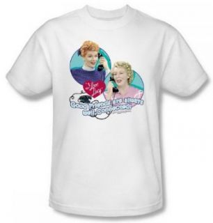 I Love Lucy Always Connected White Adult Shirt LB173 AT Clothing