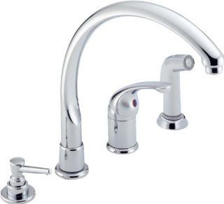 Delta Waterfall 174 WF Kitchen Single Handle Faucets Chrome   Touch On Kitchen Sink Faucets