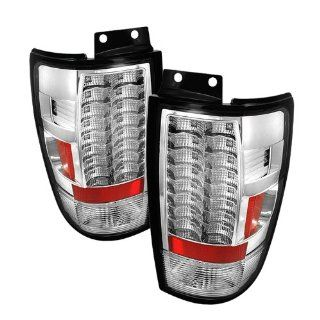 Ford Expedition 97 98 99 00 01 02 V2 LED Tail Lights + Hi Power White LED Backup Lights   Chrome (Pair) Automotive