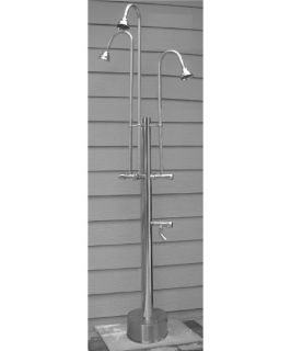 Outdoor Shower Company Free Standing Shower with 3 Heads   Outdoor Showers