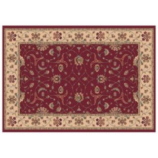 Dynamic Rugs Radiance Collection 47 x 24 Hearth Rug Red Brava   Hearth Rugs