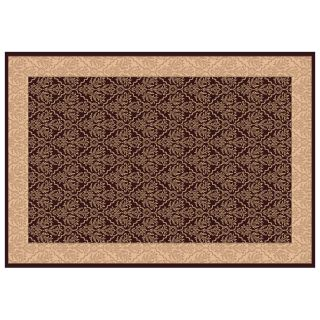 Dynamic Rugs Radiance Collection 47 x 24 Hearth Rug Chocolate Tapestry   Hearth Rugs