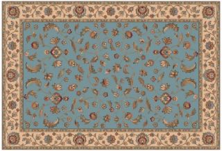 Dynamic Rugs Radiance Collection 47 x 24 Hearth Rug Blue Arcadia   Hearth Rugs
