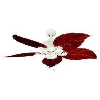 Kichler 320102SNW/370022 52 in. Crystal Bay Outdoor Ceiling Fan   Satin Natural White   Ceiling Fans
