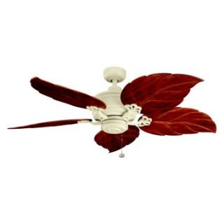 Kichler 320102ADC/370022 52 in. Crystal Bay Outdoor Ceiling Fan   Adobe Cream   Ceiling Fans