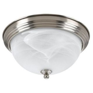 Sea Gull Bathroom Ceiling Light   12.5W in. Brushed Nickel   Ceiling Lighting