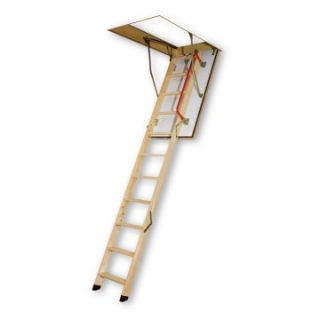 Fakro 10.1 ft. Fire Resistant Wooden Attic Ladder   Ladders and Scaffolding