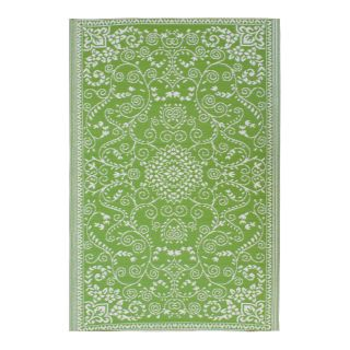Fab Rugs World Murano Indoor/Outdoor Rug   Lime Green/Cream   Rugs