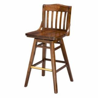 Regal School House Beechwood 26 in. Swivel Counter Stool with Wood Seat   Bar Stools