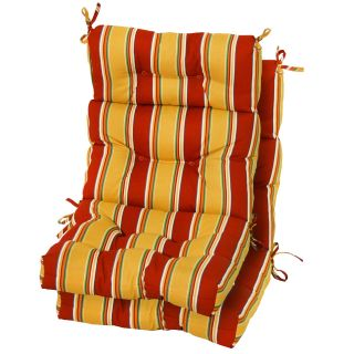 Greendale Home Fashions Outdoor High Back Chair Cushions Set of 2   Outdoor Cushions