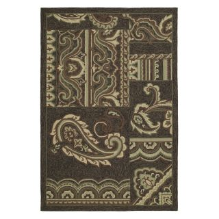 Kaleen Home and Porch Dutch Island 2022 40 Indoor/Outdoor Area Rug   Chocolate   Area Rugs