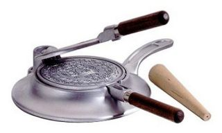 Nordic Ware International Specialties Heavy Cast Aluminum Norwegian Krumkake Iron   Crepe Pans
