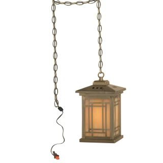 Dale Tiffany Mission Pendant   5.25 watt in. Antique Brass Plating   Tiffany Ceiling Lighting