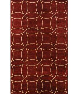 Noble House Elegant Area Rug   Burgundy/Gold   Area Rugs