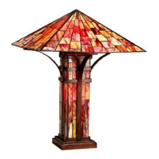 Tiffany Style Mission Double Lite Table Lamp   Tiffany Table Lamps