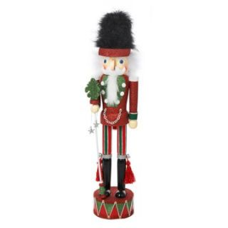 Kurt Adler Hollywood Nutcracker on Drum   Red / Green   Nutcrackers