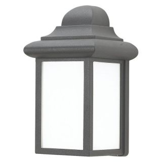 Sea Gull Mulberry Hill Outdoor Wall Lantern   9.25H in. Black   ENERGY STAR   Outdoor Wall Lights