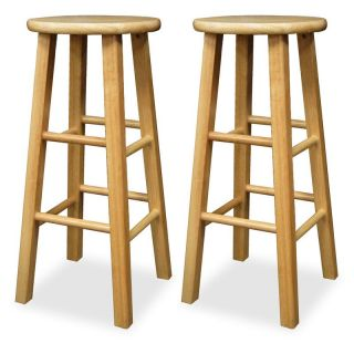 Winsome Wood 29 Inch Square Leg Bar Stool   Set of 2   Bar Stools
