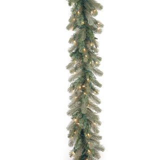 9 ft. Frosted Colorado Spruce Pre lit Garland   Swags & Garland