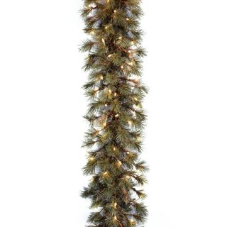 9 ft. Wispy Willow Pre lit Garland   Swags & Garland