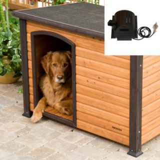 Precision Extreme Outback Log Cabin Dog House with cooling fan   Dog Houses