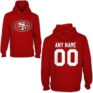 San Francisco 49ers Mens Custom Any Name & Number Hooded Sweatshirt