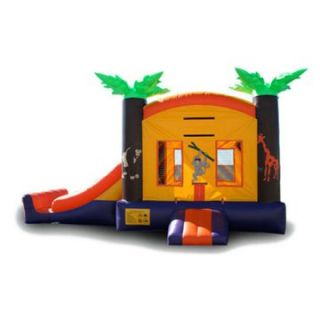 EZ Inflatables Mini Tropical Combo Bounce House   Commercial Inflatables