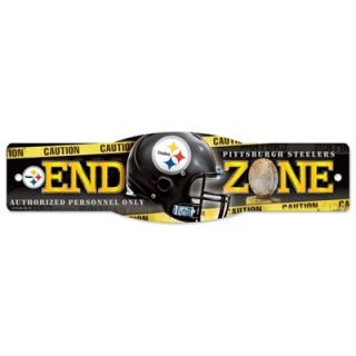 Pittsburgh Steelers 4.5 x 17 Plastic Street Zone Sign
