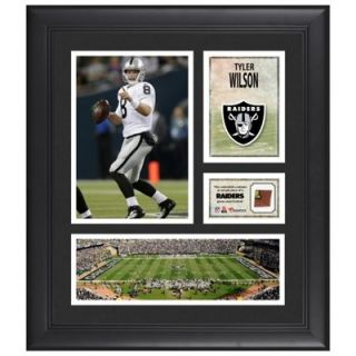 Tyler Wilson Oakland Raiders Framed 15 x 17 Collage with Game Used Football