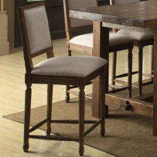 Emerald Home Bellevue Square Back Bar Stool   Set of 2   Bar Stools