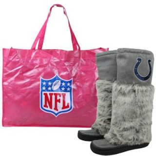 Indianapolis Colts Ladies Gray Devotee Knee High Boots