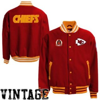 Mitchell & Ness Kansas City Chiefs Halfback Throwback Wool Jacket   Red/Gold