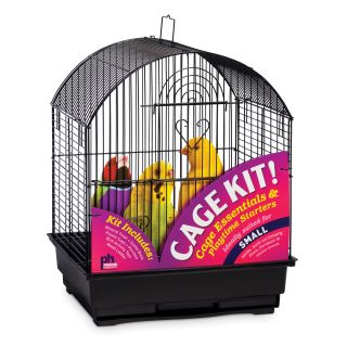 Prevue Pet Products Round Top Bird Cage Kit   Black   Bird Cages