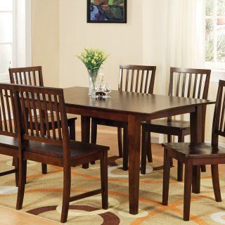 Steve Silver Branson 8 Piece Counter Height Dining Table Set with Bench   Black/Cherry   Dining Table Sets