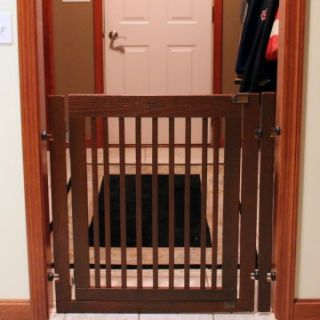 Dynamic Accents Citadel Pressure Mount Oak Pet Gate   Gates & Doors