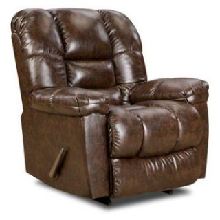 New Era Faux Leather Recliner   Walnut   DO NOT USE