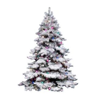 Vickerman 14 ft. Flocked Alaskan Dura Lit Christmas Tree   Christmas Trees