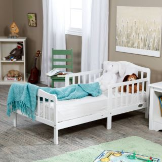 The Orbelle Contemporary Solid Wood Toddler Bed   White   Standard Toddler Beds