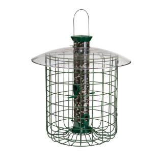 Droll Yankee 15 in. Green Domed Cage Sunflower Feeder   Bird Feeders