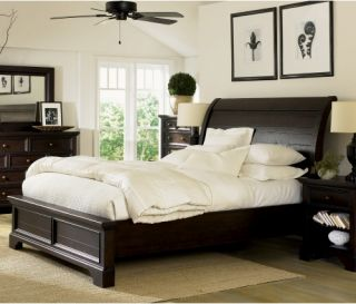 Breckenridge Low Profile Sleigh Storage Bed   Low Profile Beds