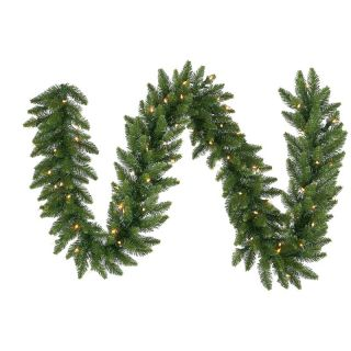 12 in. x 9 ft. Camdon Fir Pre lit Garland   Christmas Garland
